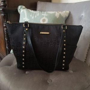Michael Kors Black bag with gold studs